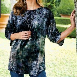 Soft Surroundings tye dye tunic, S, 2 for $35